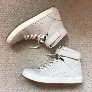 Grey Lacoste High Tops, Size 6